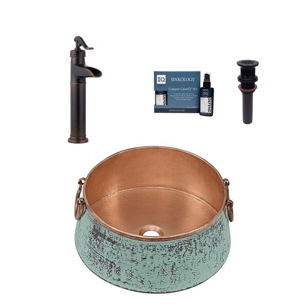 Sinkology Nobel All-in-One Sink and Ashfield Faucet Kit. Opens flyout.