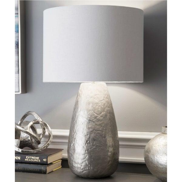 "Watch Hill 24"" Harper Aluminium Cotton Shade Nickel Table Lamp"