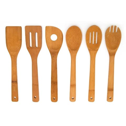 Sweet Home Collection 6 Piece Wooden Kitchen Tool Set
