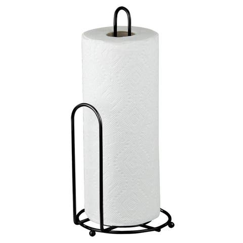 Sweet Home Collection Black Countertop Paper Towel Holder