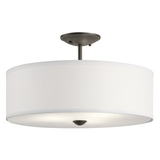 Kichler Lighting Shailene Collection 3-light Olde Bronze Semi-Flush Mount