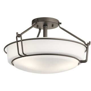 Kichler Lighting Alkire Collection 3-light Olde Bronze Semi-Flush Mount