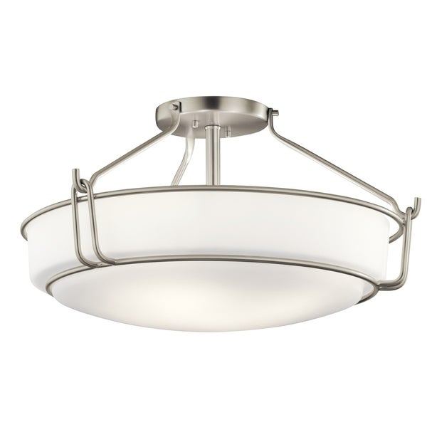 Kichler Lighting Alkire Collection 4 Light Brushed Nickel Semi Flush Mount