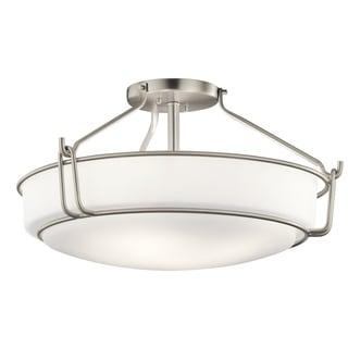 Kichler Lighting Alkire Collection 4-light Brushed Nickel Semi-Flush Mount