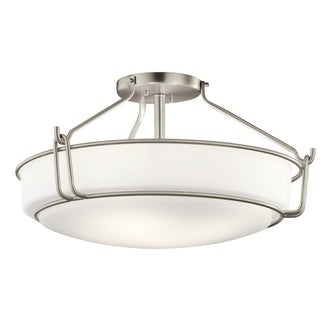 Kichler Lighting Alkire Collection 4-light Brushed Nickel Semi-Flush Mount