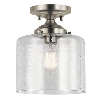 Kichler Lighting Winslow Collection 1-light Brushed Nickel Semi-Flush Mount