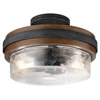 Kichler Lighting Grand Bank Collection 2-light Auburn Stained Semi-Flush Mount