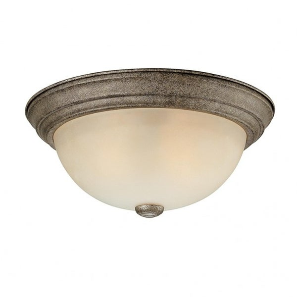 2 Light Ceiling Fixture Traditional Creek Stone by Capital Lighting