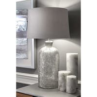 "Watch Hill 25"" Cotton Shade Clear Table Lamp"