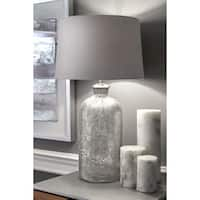 "Watch Hill 25"" Cotton Shade Clear Table Lamp - 20"" h x 8"" w x 8"" d"