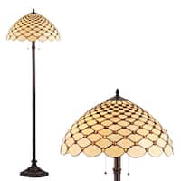 "Lee Tiffany-Style 62"" LED Floor Lamp, Bronze"