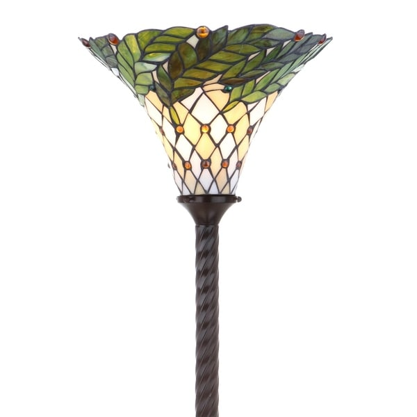 "Shop Botanical Tiffany-Style 71"" Torchiere LED Floor Lamp"