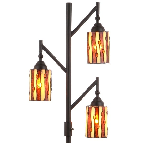 Shop Clark Tiffany Style 71 Quot Multi Light Led Floor Lamp Bronze By Jonathan Y On Sale Free