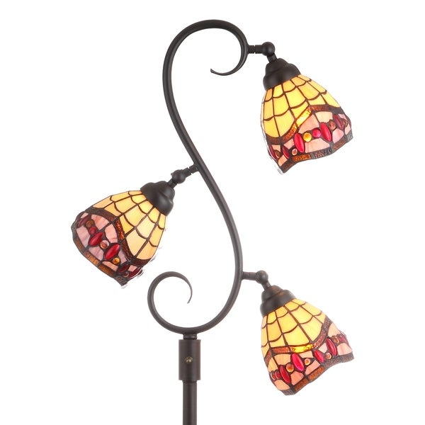 Walker tiffany style 705 multi light floor lampbronze by walker tiffany style 705 multi light floor lampbronze by jonathan y mozeypictures Gallery