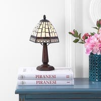 """Carter Tiffany-Style 12"""" LED Table Lamp, Bronze"""