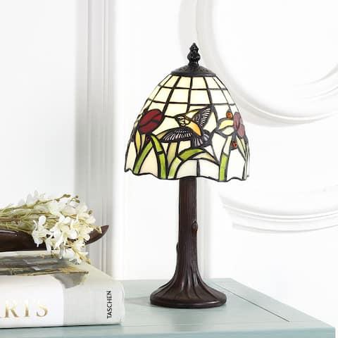 "Hummingbird Tiffany-Style 12"" LED Table Lamp, Bronze by JONATHAN Y"