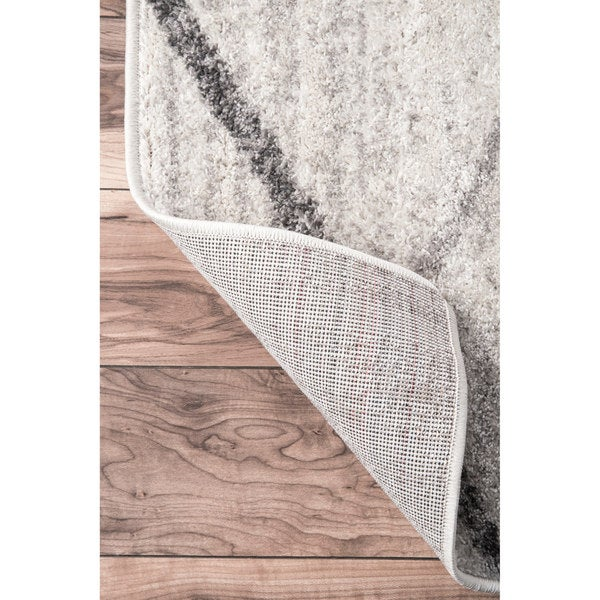 Nuloom Contemporary Striped Grey Rug Home Design Ideas
