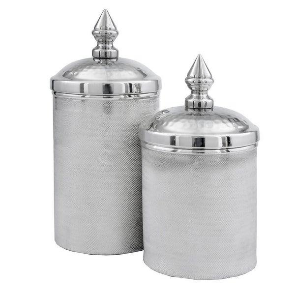 Botes Silver Canisters - Set of 2.