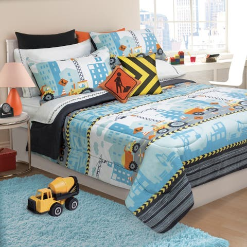 Under Construction 3-piece Comforter Set
