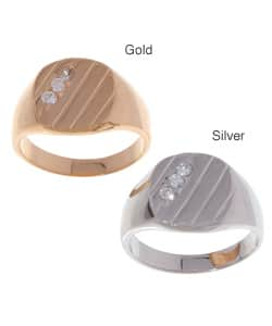 Icz Stonez Men's Sterling Silver/ 18k Gold over Silver CZ Ring|https://ak1.ostkcdn.com/images/products/1954938/Icz-Stonez-Mens-Sterling-Silver-18k-Gold-over-Silver-CZ-Ring-P10272163.jpg?impolicy=medium