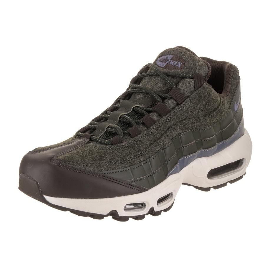Nike Men's Air Max 95 PRM Running Shoe (9.5), Green (leat...