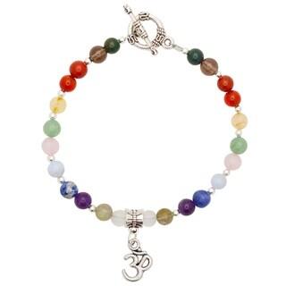 Handmade - Healing Stones for You 12 Stone Essential Chakra Bracelet (USA)