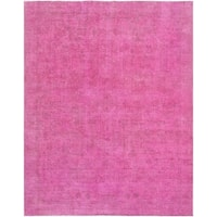 "Pasargad Vintage Overdyes Pink Wool Area Rug (9' 5"" X 12' 8"")"