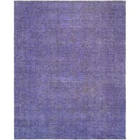 """Pasargad Vintage Overdyes Hand-Knotted Wool Area Rug (9' 2"""" X 11'11"""")"""
