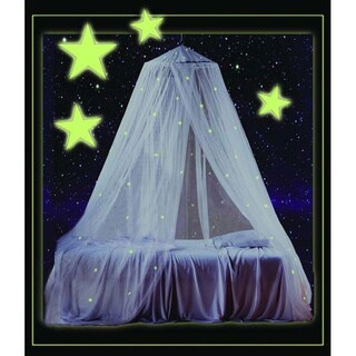 Mombasa Children's White Fabric Glow-in-the-Dark Canopy