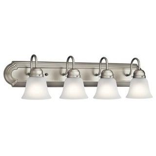 Kichler Lighting Traditional 4-light Brushed Nickel Bath/Vanity Light