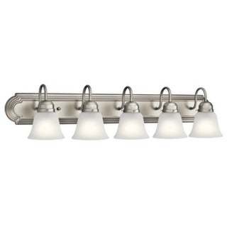 Kichler Lighting Traditional 5-light Brushed Nickel Bath/Vanity Light
