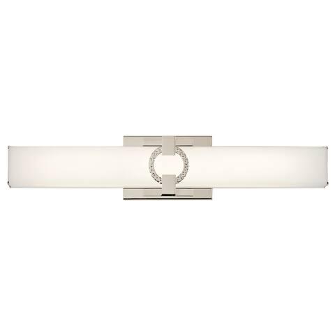 Kichler Lighting Bordeaux Collection 22-inch Polished Nickel Linear Bath/Vanity Light