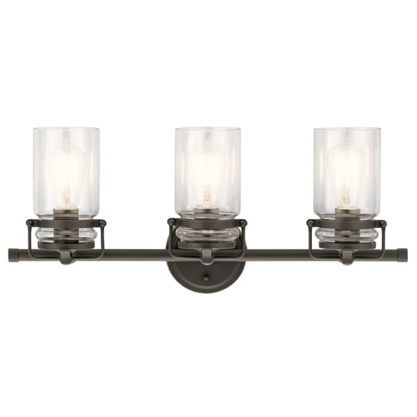 Kichler lighting brinley collection 3 light olde bronze bath vanity light