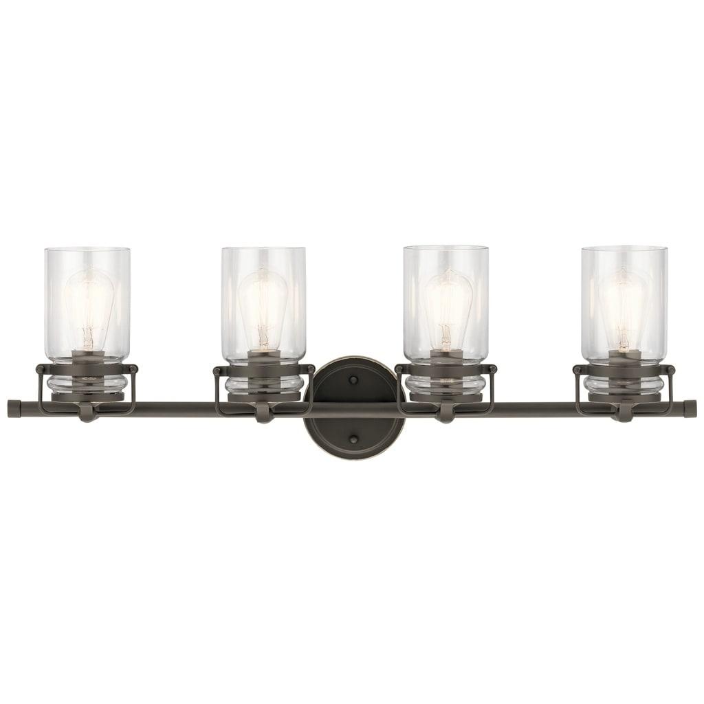 Kichler lighting brinley collection 4 light olde bronze bath vanity light