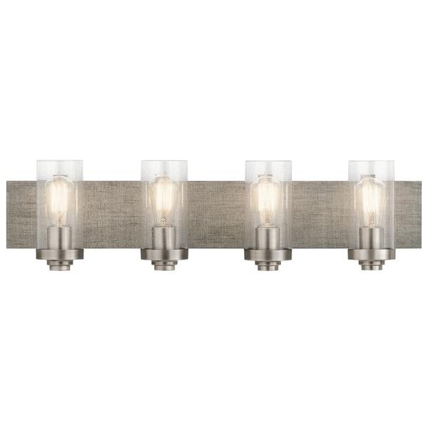 Shop Kichler Lighting Dalwood Collection 4-light Pewter Bath/Vanity ...