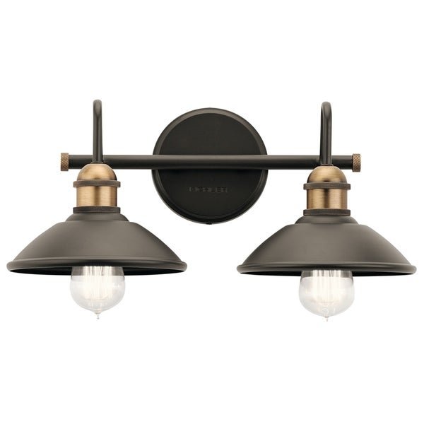 Kichner Lighting: Shop Kichler Lighting Clyde Collection 2-light Olde Bronze