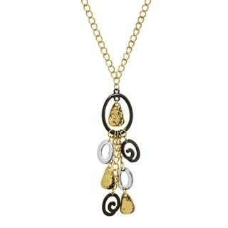 Tri Tone Tassel Necklace - tri tone