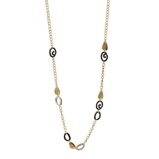Link to Cast Tri Tone Station Necklace - tri tone - tri tone Similar Items in Fashion Jewelry Store