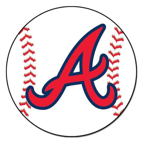 """MLB - Atlanta Braves Baseball Mat 27"""" diameter"""