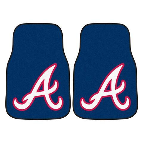 "MLB - Atlanta Braves 2-pc Carpeted Car Mats 17""x27"""