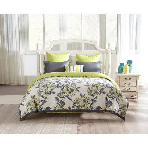 Kensie Etta 100% Cotton Canvas Fabric Duvet Cover Set