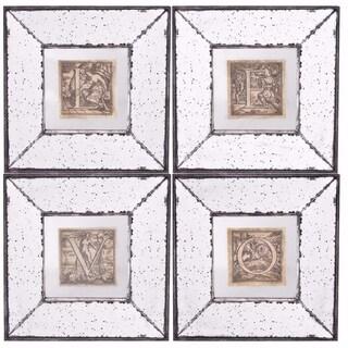 Vertiline Framed Wall Prints, Letters- Set of 4