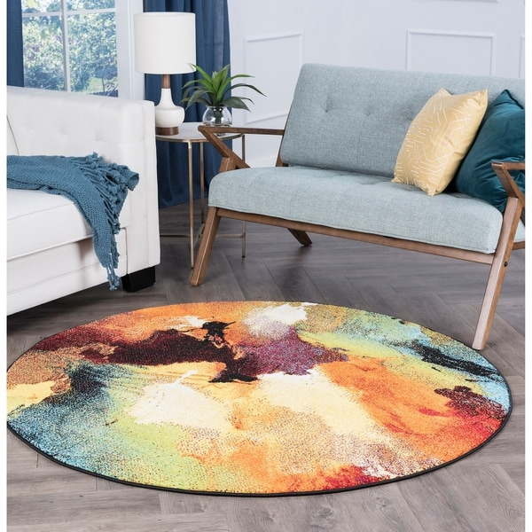 Alise Avdel Contemporary Abstract Area Rug - 5'3