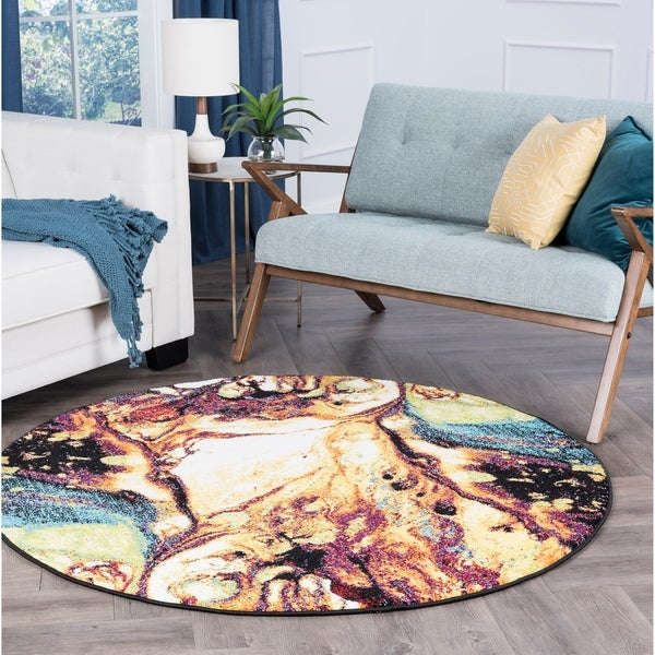 Alise Rhapsody Contemporary Abstract Area Rug - 7'10 x 7'10