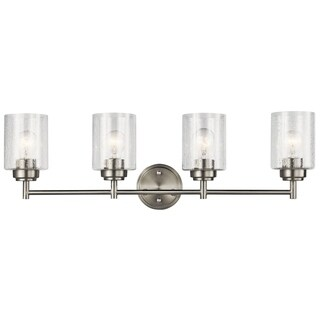 Kichler Lighting Winslow Collection 4-light Brushed Nickel Bath/Vanity Light