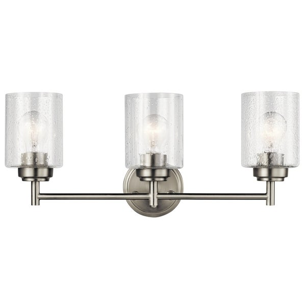 Shop kichler lighting winslow collection 3 light brushed - 8 light bathroom fixture brushed nickel ...
