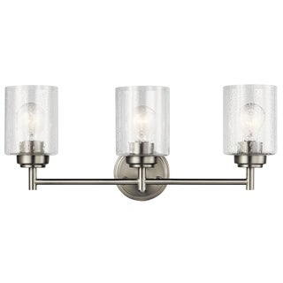 Kichler Lighting Winslow Collection 3-light Brushed Nickel Bath/Vanity Light