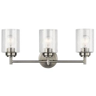 Kichler Lighting Winslow Collection 3-light Brushed Nickel Bath/Vanity Light