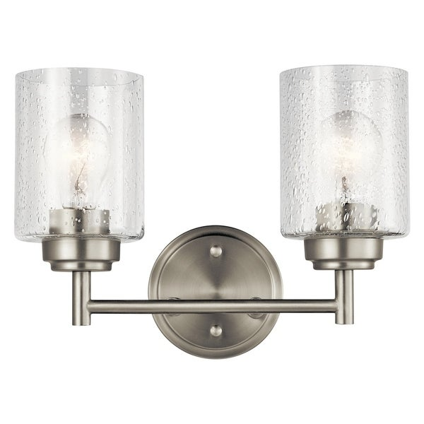 Shop Kichler Lighting Winslow Collection 2 Light Brushed Nickel Bath