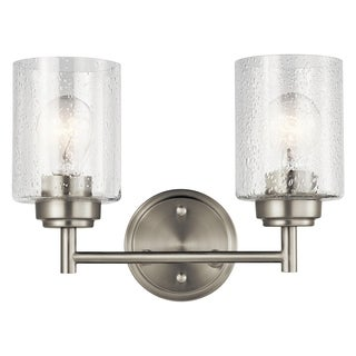 Kichler Lighting Winslow Collection 2-light Brushed Nickel Bath/Vanity Light